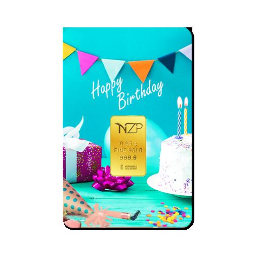 Geburtstagsgeschenke Happy Birthday 0,25 Gramm