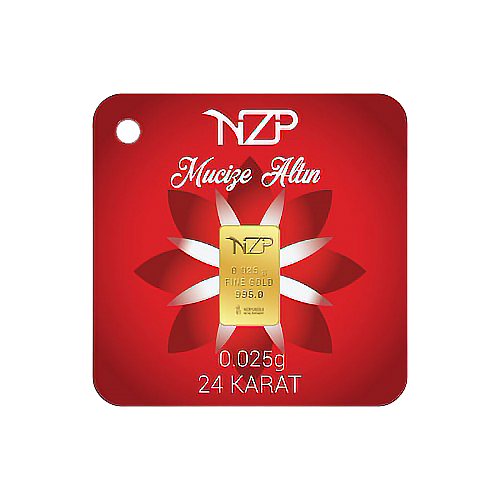 Nzp Gold Mini Goldbarren 0.025 Gramm (995 24 Karat)
