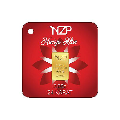 Nzp Gold Mini Goldbarren 0.05 Gramm (995 24 karat)