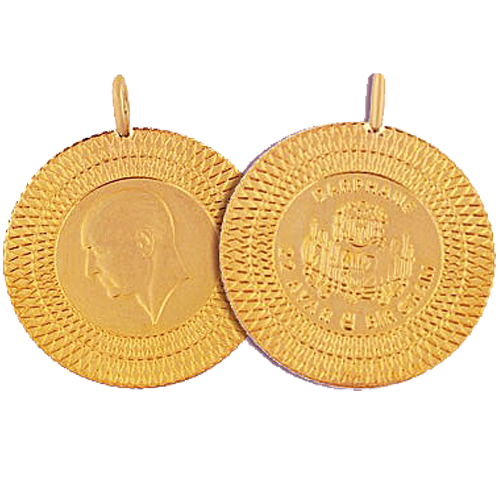 Ziynet Gold 1 Gramm Goldmünze Mit Öse  / Ziynet Gram Altin Kulplu