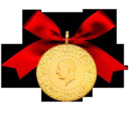 Ziynet Gold 100 Piaster Kurush Mit Öse / Ziynet Tam Altin Kulplu
