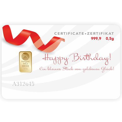 Happy Birthday 0,5 Gramm