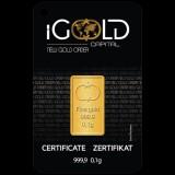 IGold Mini Goldbarren 0,10 Gramm